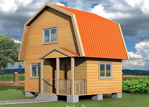 Дачный дом из профилированного бруса 5х5