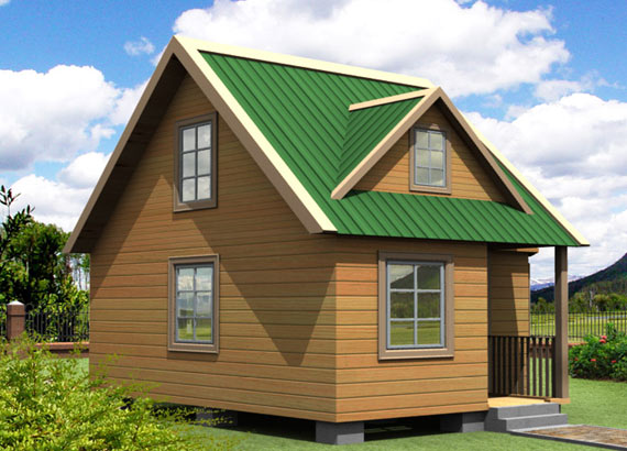 Проект дачного дома из бруса 6х6