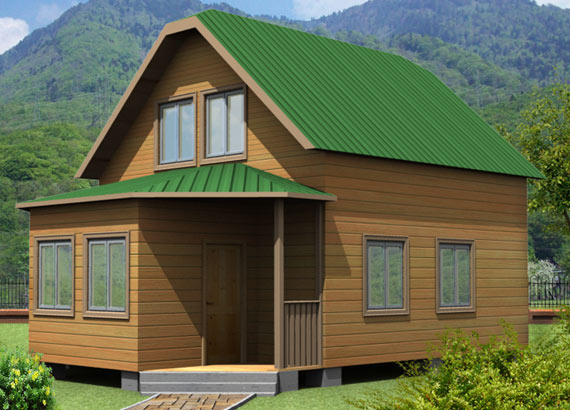 Дом из бруса 6х8. Проект 30