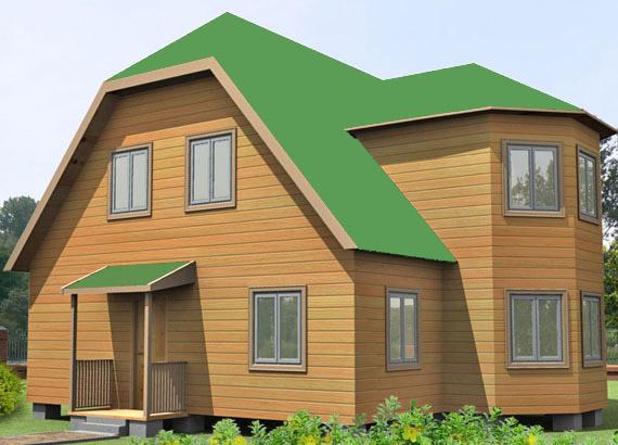 Проект дома из бруса 10х9.5 №38