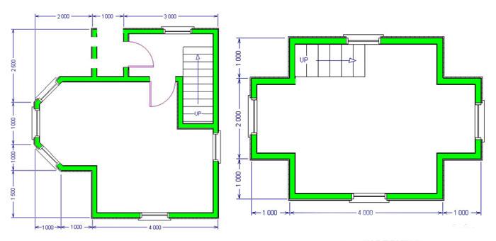 Проект план дачного дома из бруса 6х6