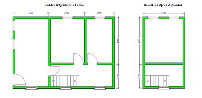 Дом из бруса 6х8,5 проект