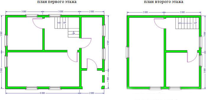 Дом из бруса 6х8. Проект 31