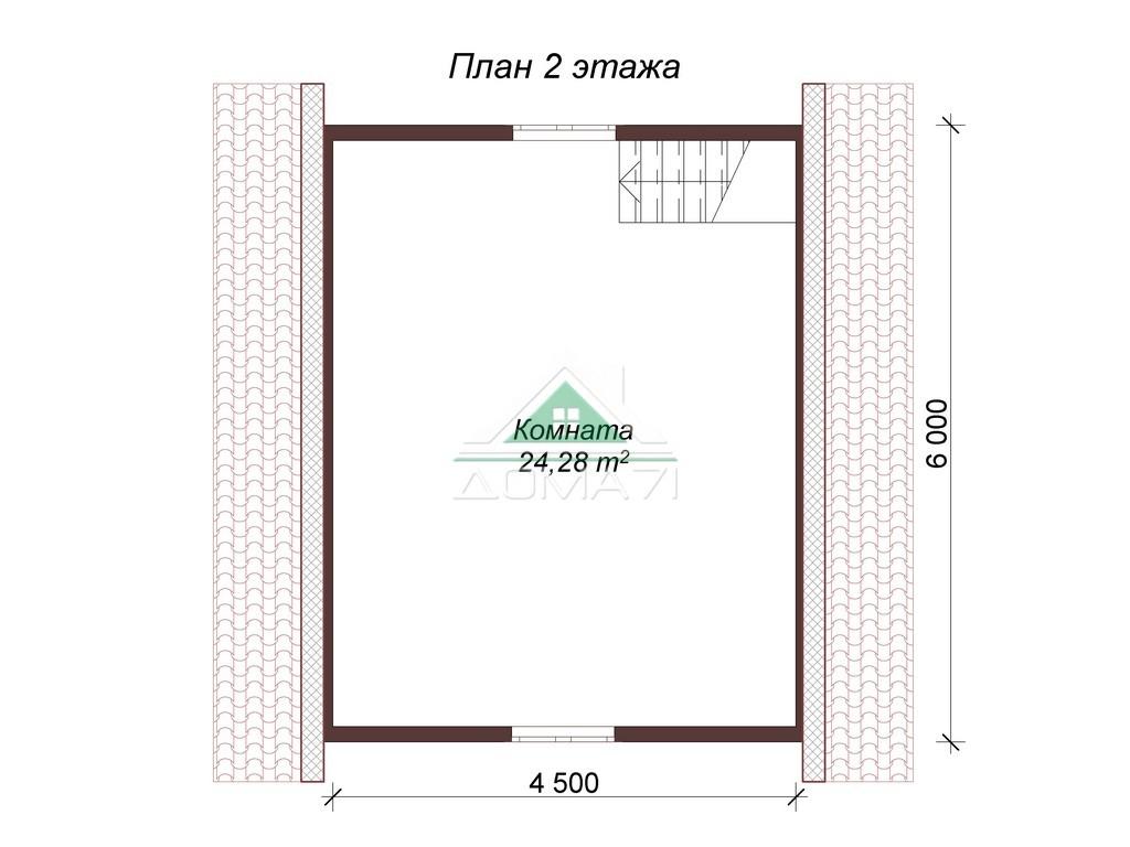Баня из бруса 6х6 двухэтажная план 2 этажа