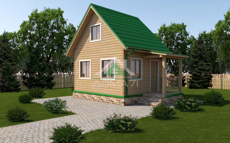 Дачный домик 4х5 строительство под ключ