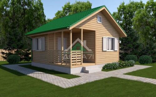 Проект одноэтажный дачный дом 6х6