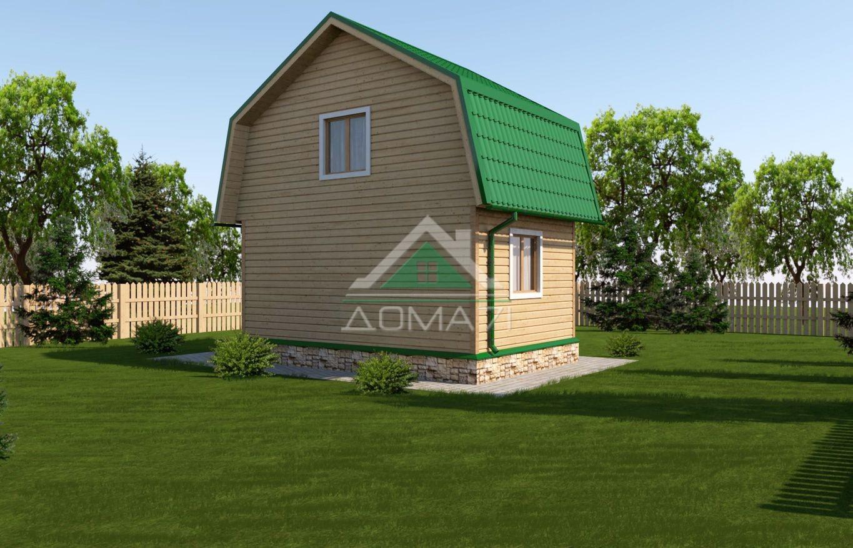 Дачный дом 4х5 двухэтажный проект