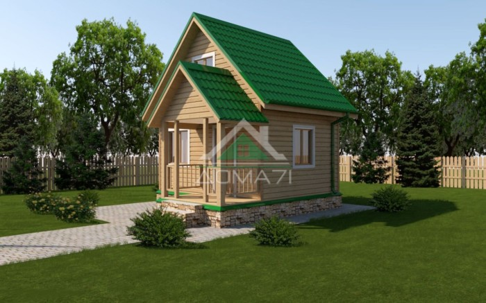 каркасный дачный дом 4х5 проект под ключ