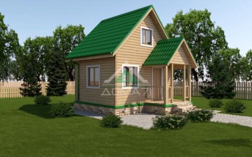 каркасный дачный дом 4х5