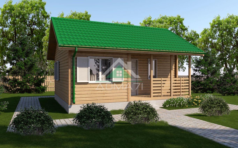 Каркасный дачный дом 6x7 одноэтажный проект 7