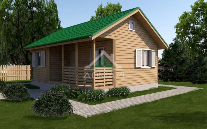 Каркасный одноэтажный дачный дом 6x8 под ключ