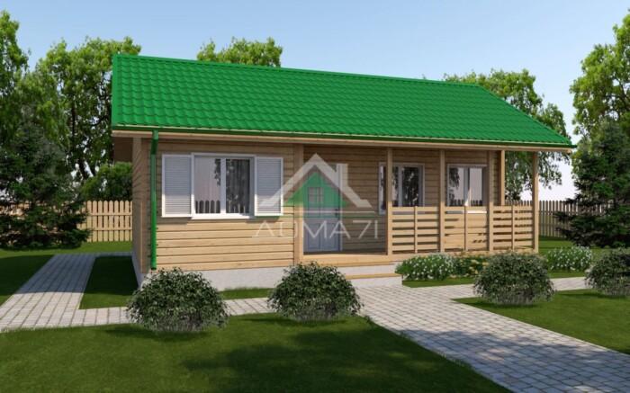 Каркасный одноэтажный дачный дом 6x9 проект 10