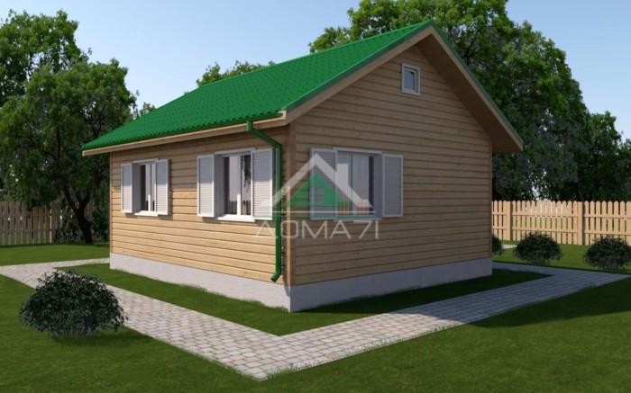 Каркасный дом 6x7 одноэтажный проект 7