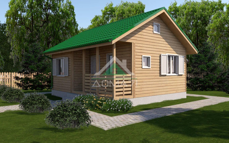 дачный дом 6x7 одноэтажный проект 7