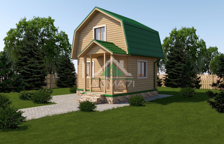 дачный домик 4х5 проект 5
