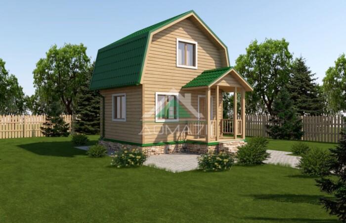 Каркасный дачный домик 4х5 проект 5
