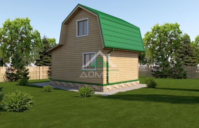 Дачный дом 5x6 каркасный