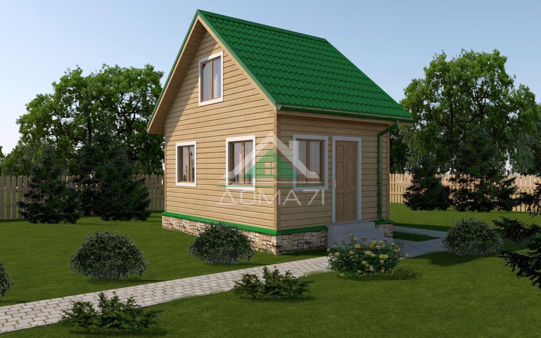 Двухэтажный дачный дом 4х6