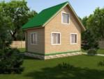 дачный дом 4х6 проект 1