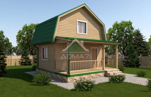 Дачный дом 6x6 проект 11