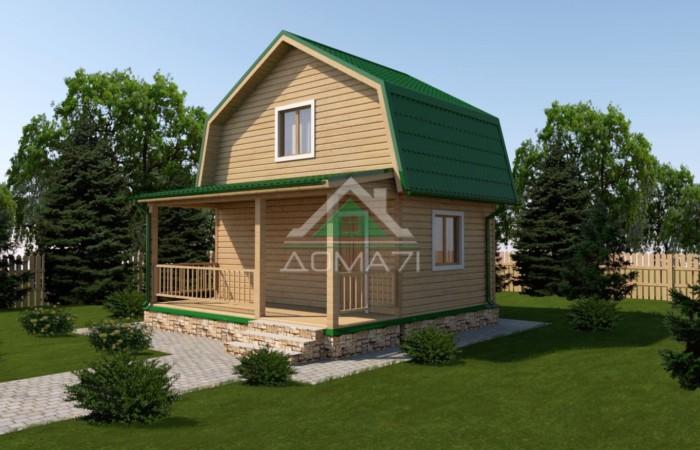 Дачный дом 6x6 каркасный проект 11