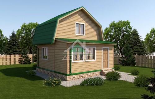 Дачный дом 6x6 проект 12