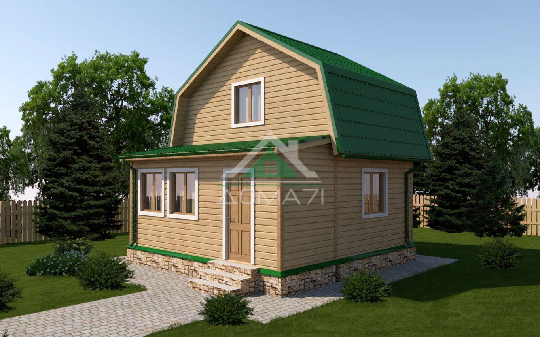 Дачный дом 6x6 под ключ проект 12