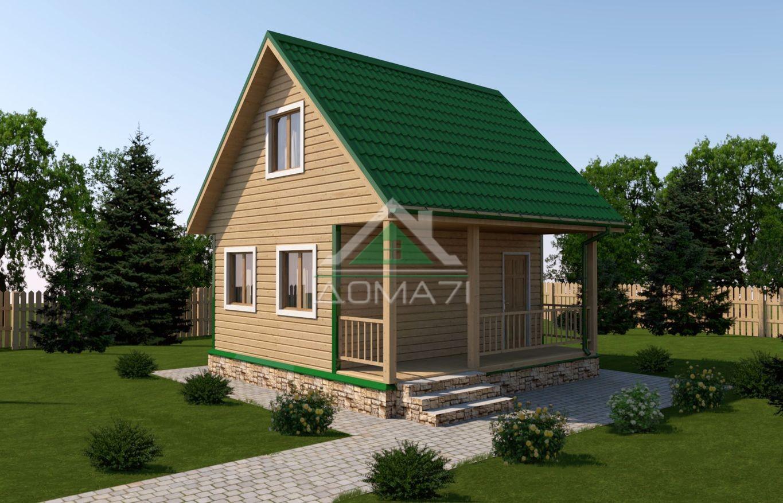 Дачный дом 6x6 проект 13