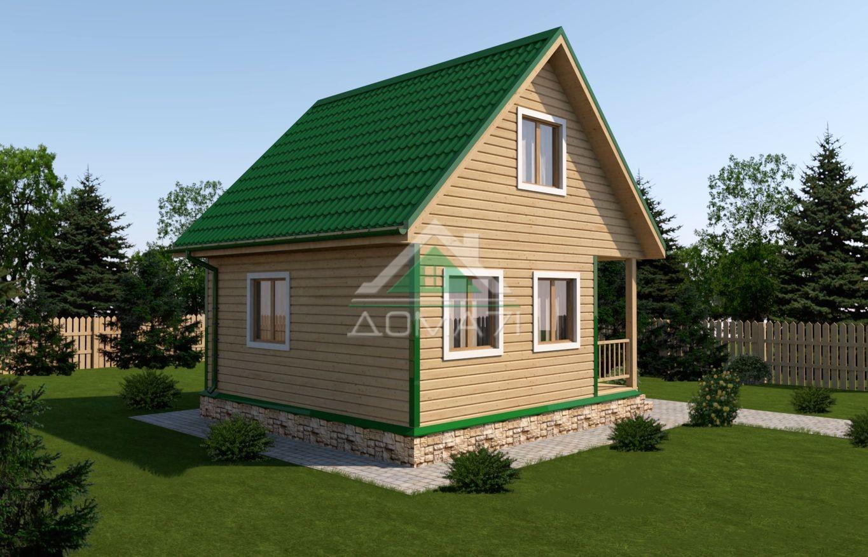 Дачный дом 6x6 под ключ проект 13