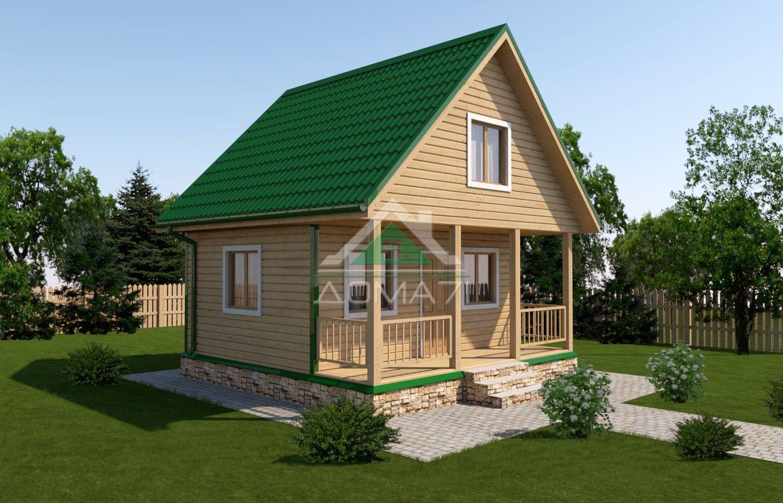 Дачный дом 6x6 проект 14