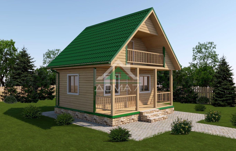 Дачный дом 6x6 проект 15