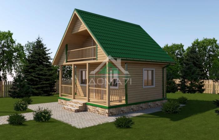 Дачный дом 6x6 под ключ проект 15