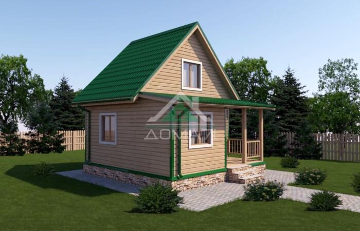 Дачный дом 6x6 проект