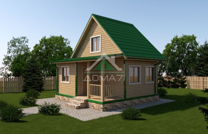 Дачный дом 6x6 проект под ключ