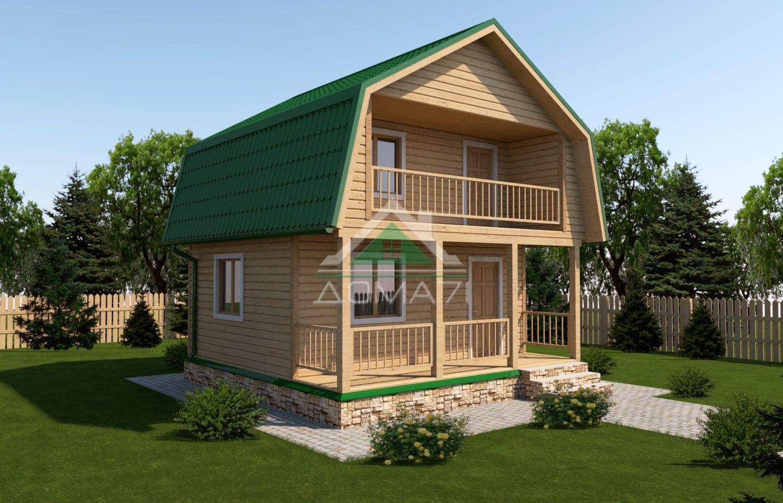 Дачный дом 6x6 проект 17 цена под ключ