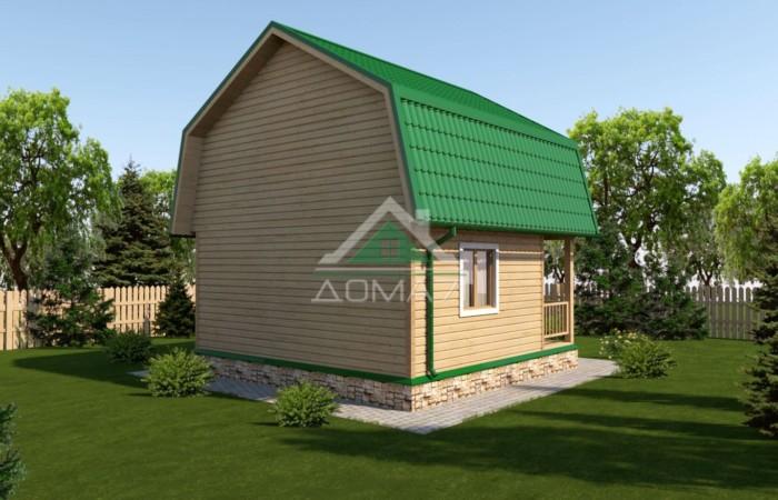 Дачный дом 6x6 проект 17
