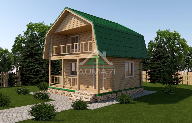 Дачный дом 6x6 каркасный проект 17