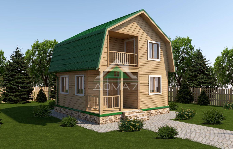 Дачный дом 6x6 проект с балконом