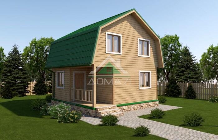 Дачный дом 6x6 проект в два этажа