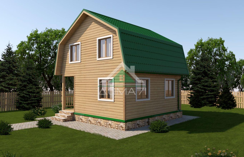 Дачный дом 6x6 проект 19
