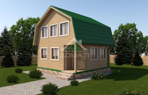 Дачный дом 6x6 проект 4 комнаты
