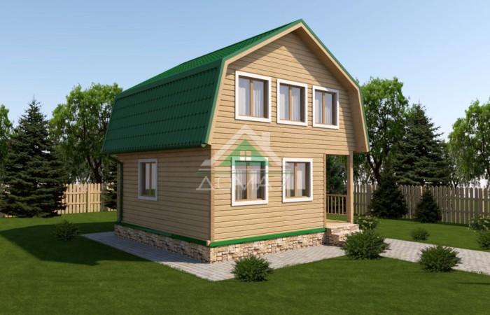 Дачный дом 6x6 проект двуэтажный