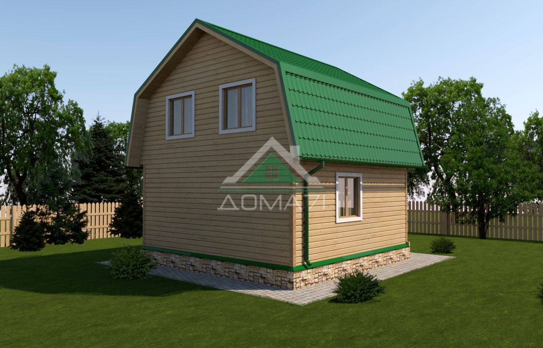 Дачный дом 6x6 проект в двухэтажный