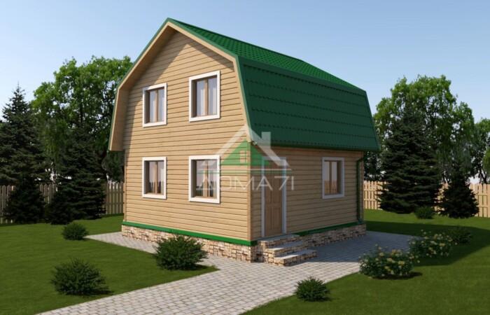 Дачный дом 6x6 проект 21