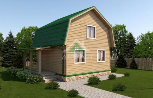 Дачный дом 6x7,5 проект 22