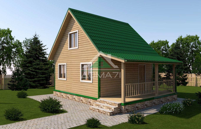 Дачный дом 6x8 проект 23