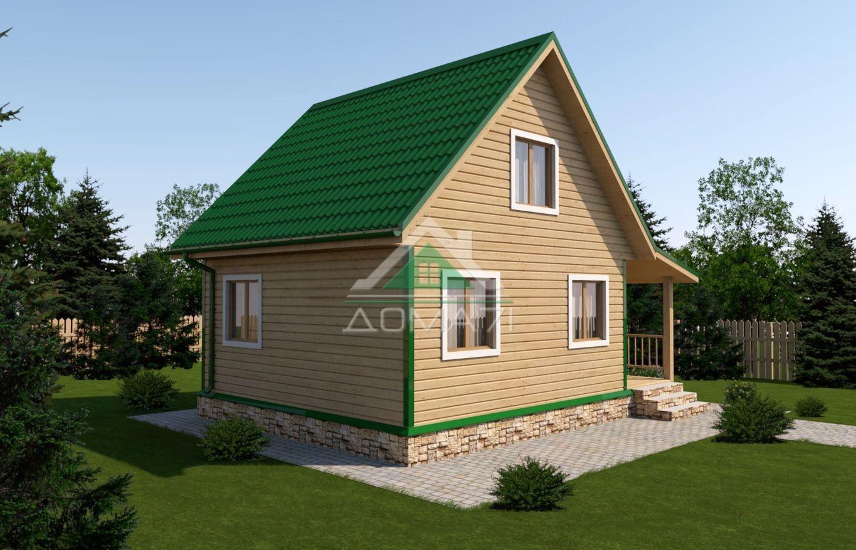 Дачный дом 6x8 проект 23 под ключ