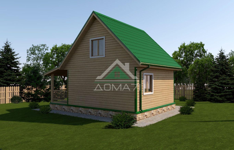 Дачный дом 6x8 проект 23 цена