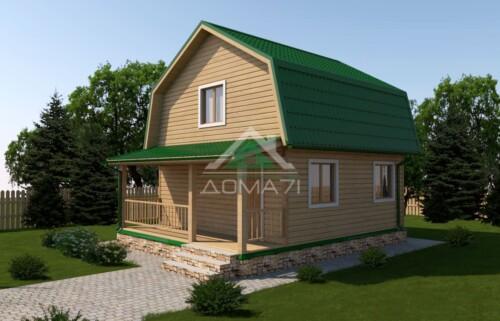 Дачный дом 6x7,5 проект 24
