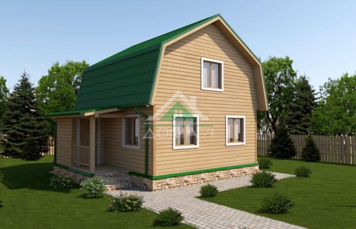 Дачный дом 6x7,5 проект 25